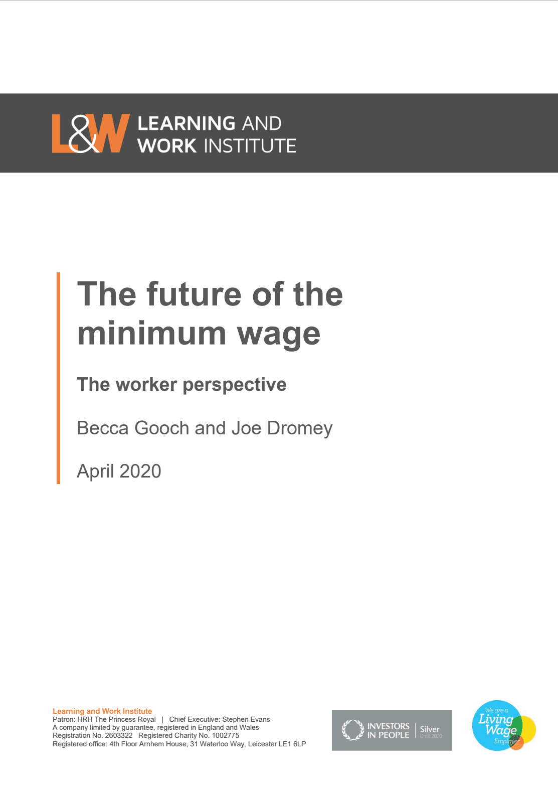 The Future of the Minimum Wage: the Workers? perspective