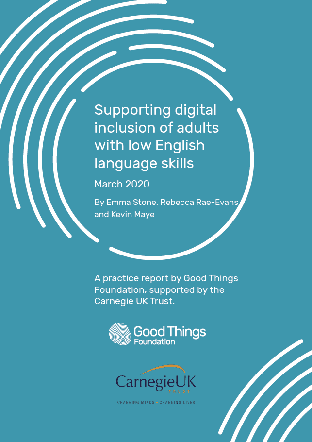 Supporting digital inclusion of adults with low English language skills