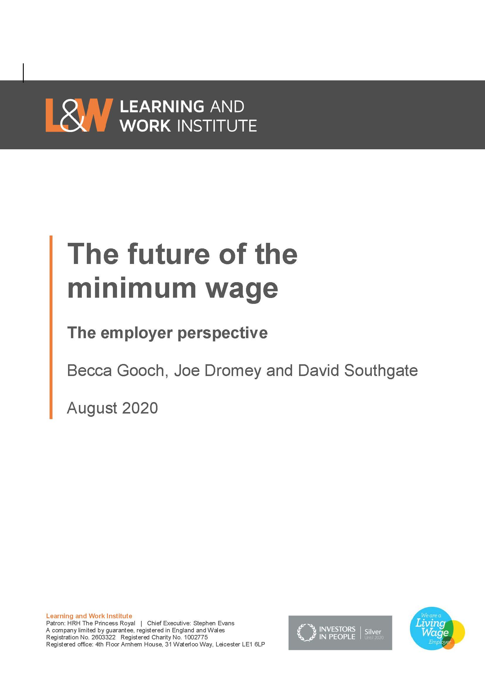 The Future of the Minimum Wage: the Employer perspective