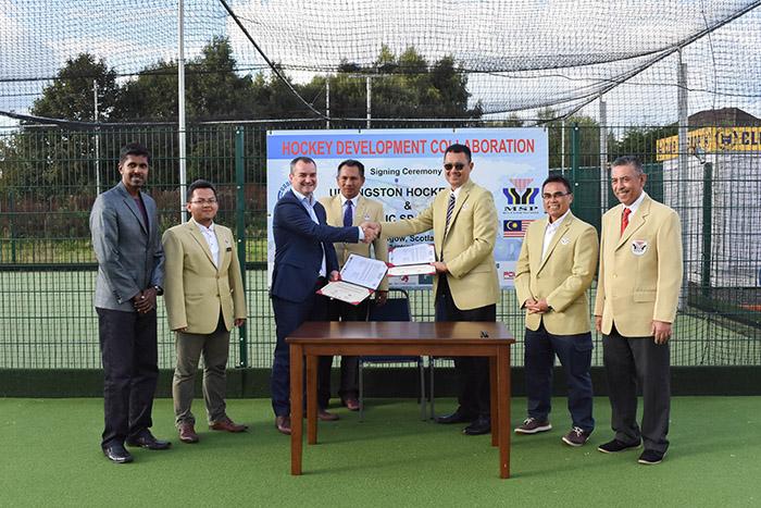 Signing ceremony between Uddingston and Politeknik