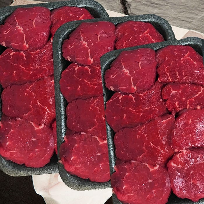 Fillet steak pieces – Special offer (3 x 340g packs)