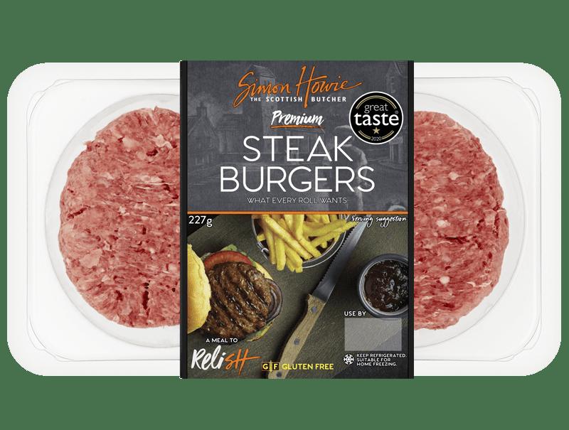 2 Premium Steak Burgers 227g