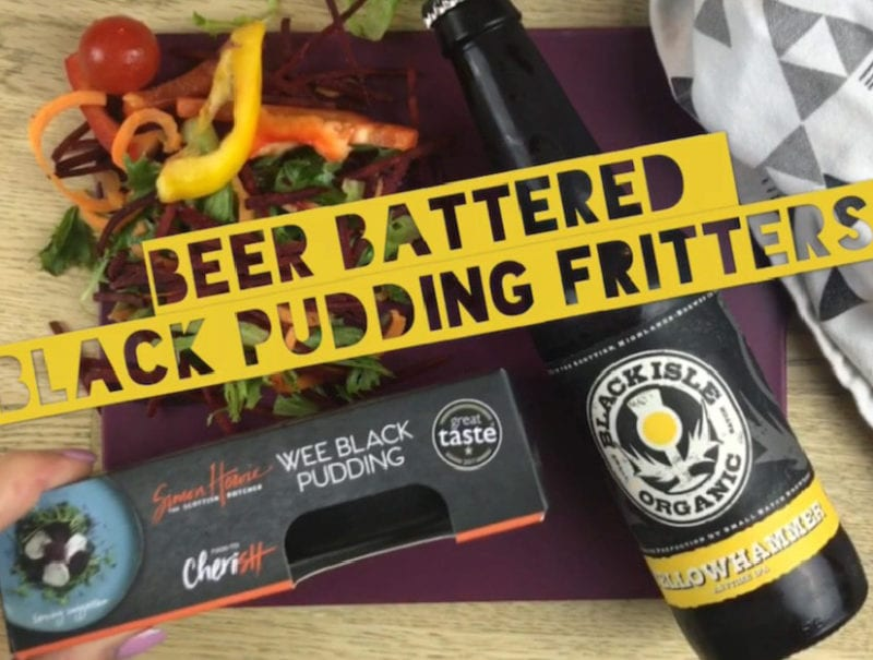 Beer Battered Black Pudding Fritters