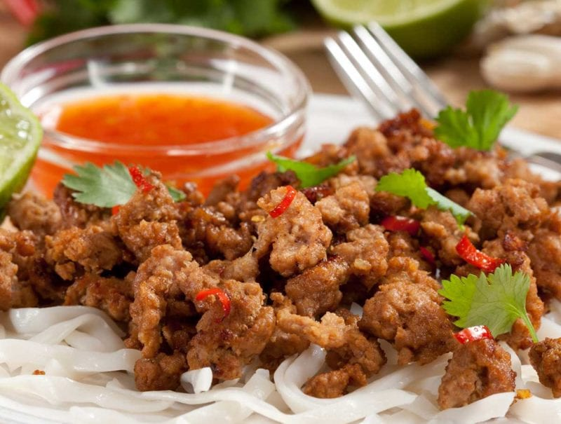 Vietnamese-style Pork Mince and Noodles