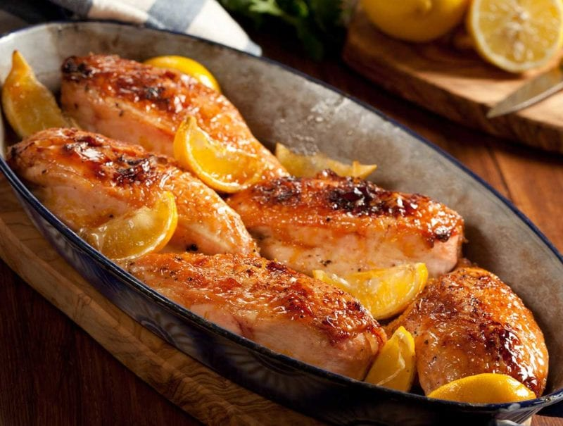 Chicken and Lemon Coriander Glaze
