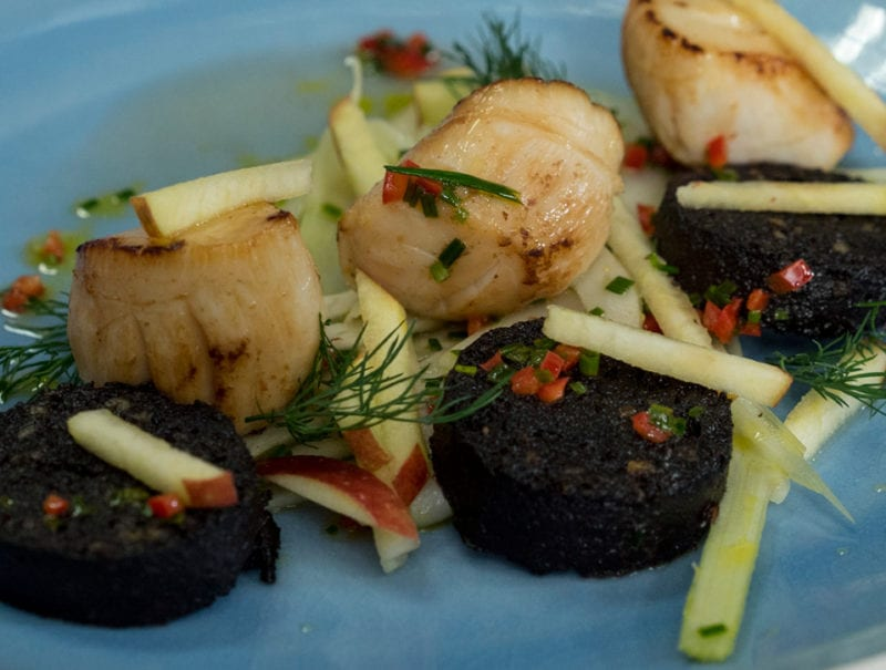 Gary Maclean's Wee Black Pudding and Scallops