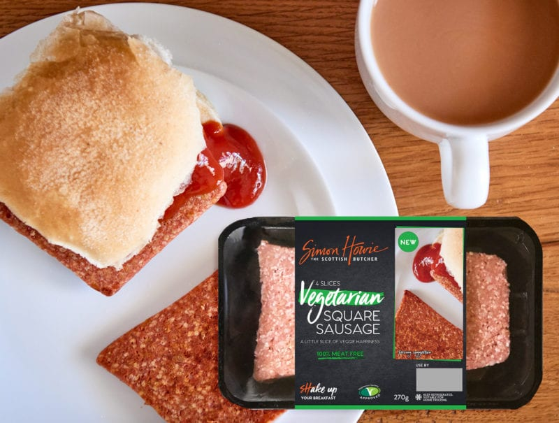 Simon Howie Launches Vegetarian Square Sausage