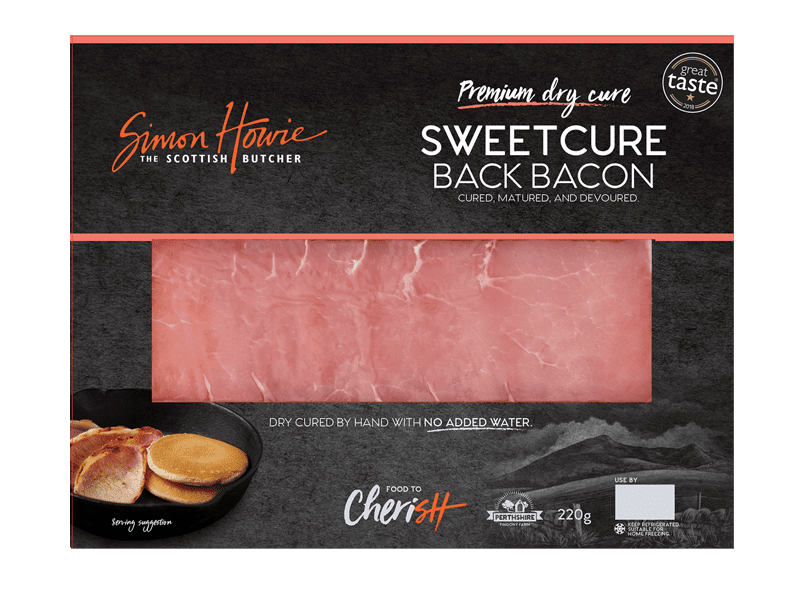 Premium Smoked Back Sweetcure Bacon 220g