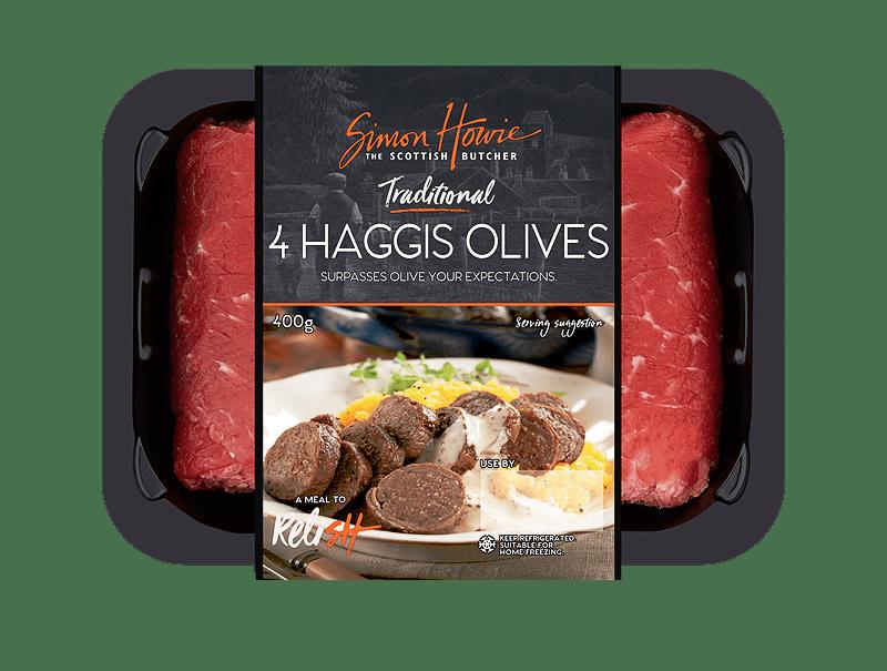 4 Traditonal Haggis Olives 400g