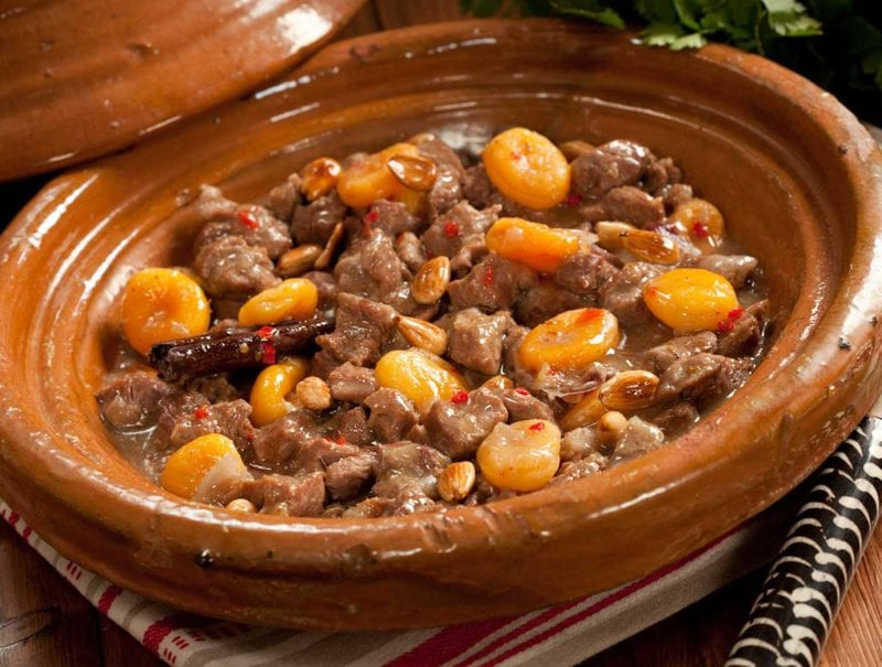 Slow Cooker Lamb and Apricot Tagine