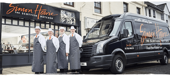 Auchterarder Simon Howie butcher shop and team