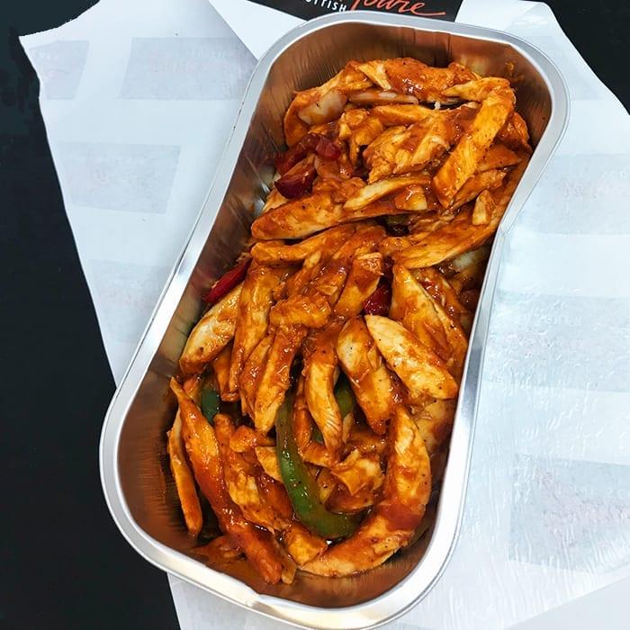 Spicy Roast Chicken Stir-fry