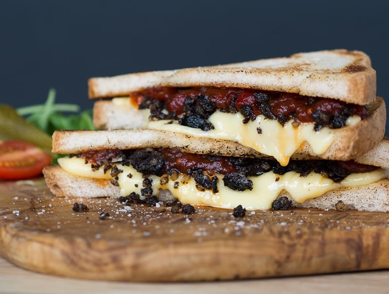 Gluten Free Haggis and Cheese Toastie