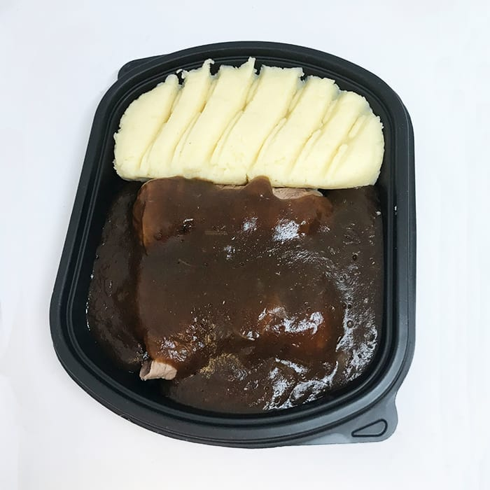 Beef Olives with Onion Gravy & Mash
