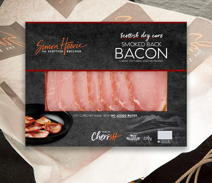 Dry Cured Smoked Bacon 220g