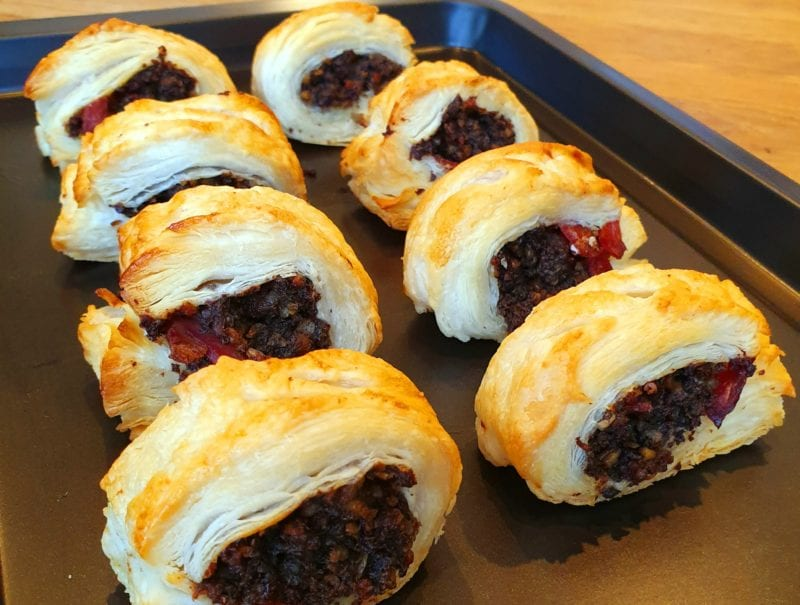 Haggis and Bacon 'Sausage' Rolls