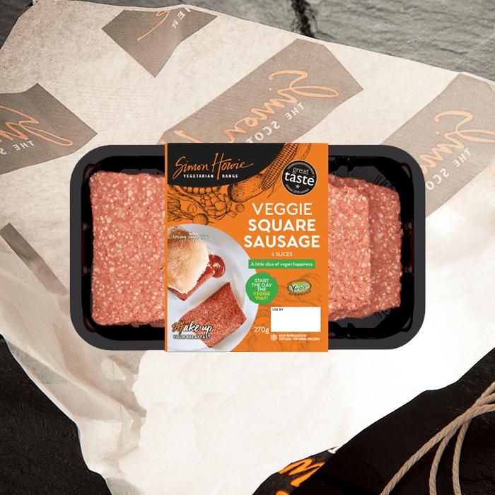 Veggie square sausage