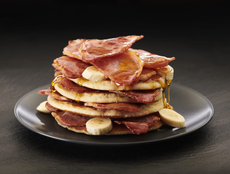 Pancake Stack With Bacon