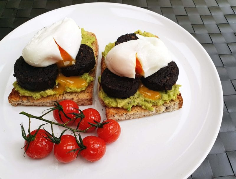 Black Pudding and Smashed Avocado on Sourdough