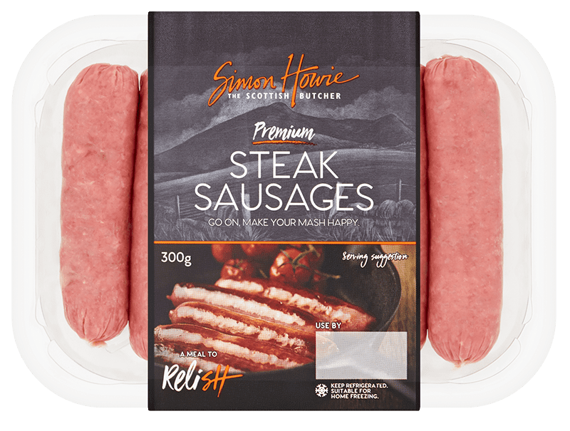 Premium Steak Sausages 300g