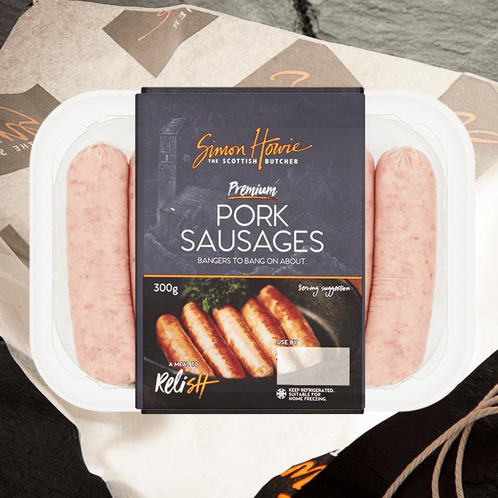 Premium pork sausages