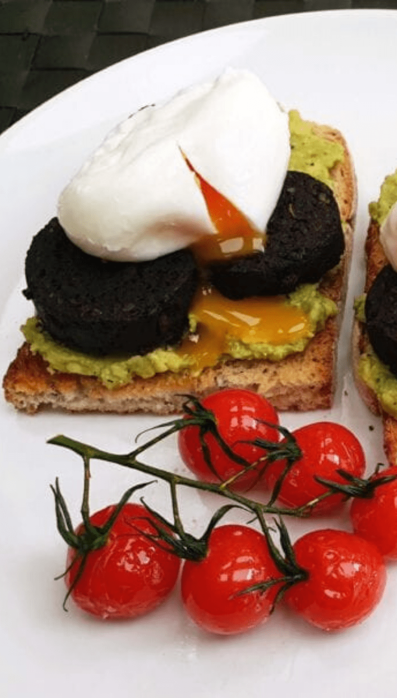 Black Pudding and Avocado