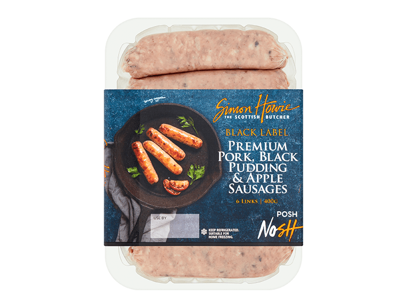 Simon Howie Black Label Pork, BP & Apple Sausages