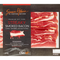 Premium Dry Cure Streaky Smoked Bacon 220g