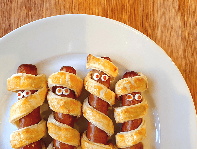 Spooky Mummy Sausages