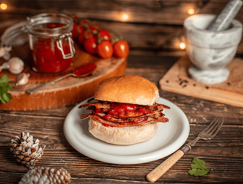 Bacon Roll with Homemade Ketchup