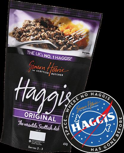 Haggis with badge