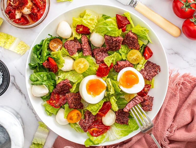 Square Sausage Salad