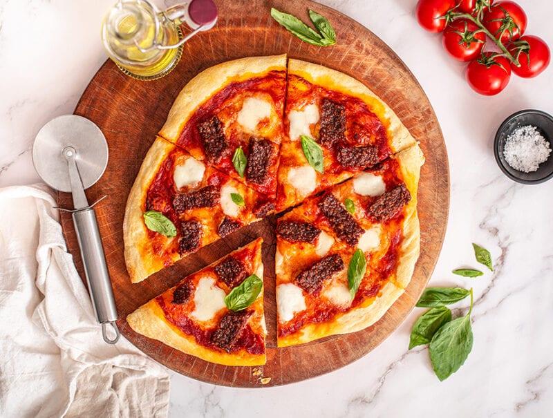 Square Sausage Pizza
