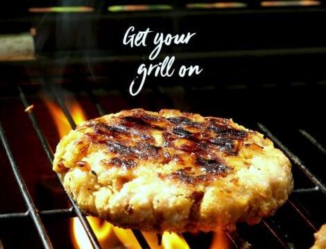 Homemade Sausage BBQ Burger