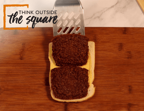 Square Sausage Croque Madame
