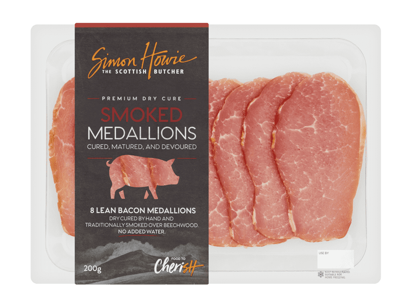 Premium Dry Cure Smoked Bacon Medallions 200g