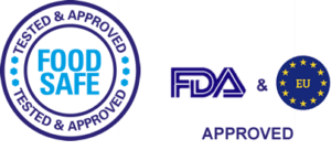 Food safe, FDA and EU approved logo