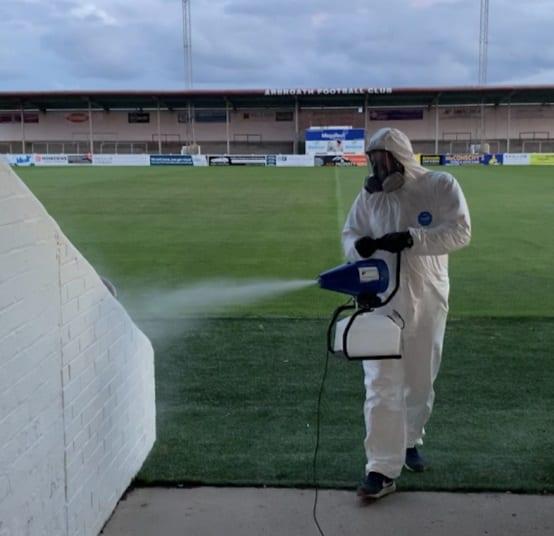 Virosafe keep Arbroath Football Club playing.