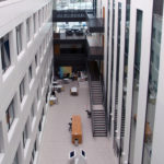 View of The Street, the entrance atrium at the School of life Sciences