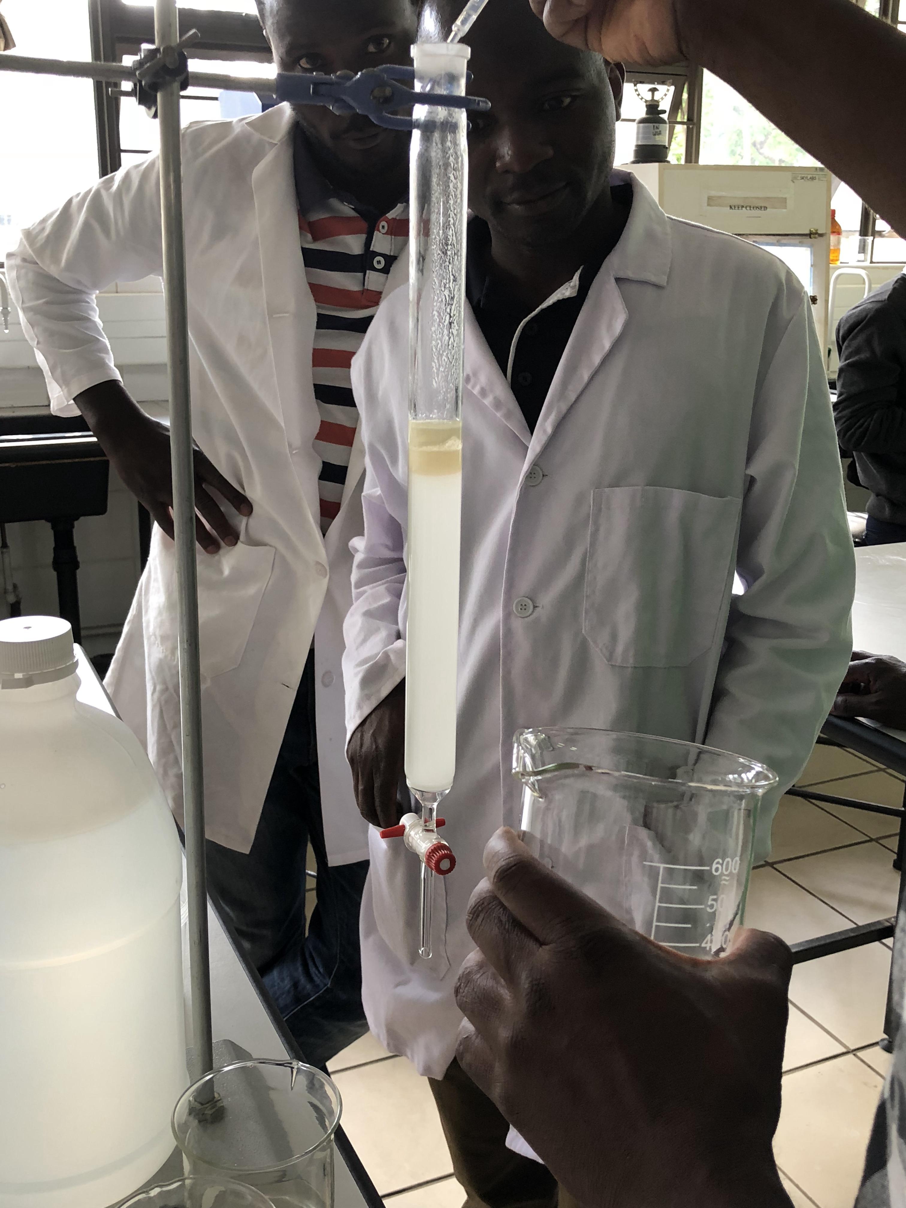Students running a column. Malawi 2018