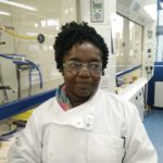 Ngozi Igoli in the Chemistry labs at WCAIR