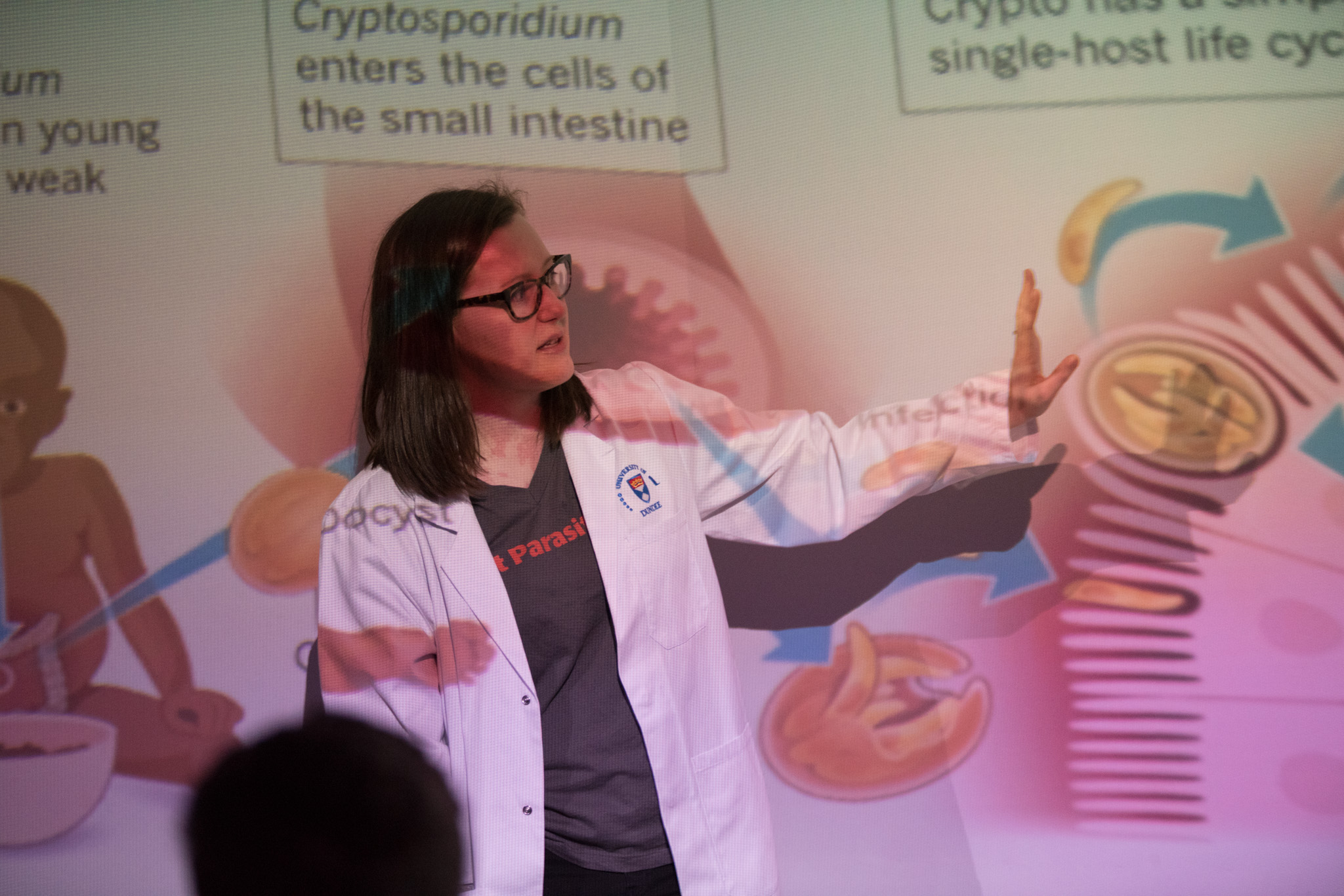 Scientist Mattie Pawlowic takes part in public engagement