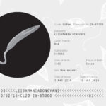 Passport page for Leishmania Para-site-seeing art-science exhibition