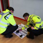 Police at Stobfest 2019 Gala Day playing Drug Discovery Snakes and Ladders