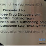 Image shows the award presented to DDU as winners of MMV Project of the Year award 2018