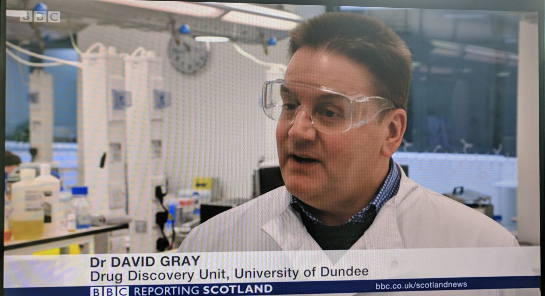 Screenshot of David Gray on BBC News
