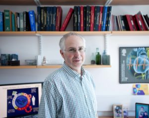 Ian Gilbert in his office at the Drug Discovery Unit at The University of Dundee.