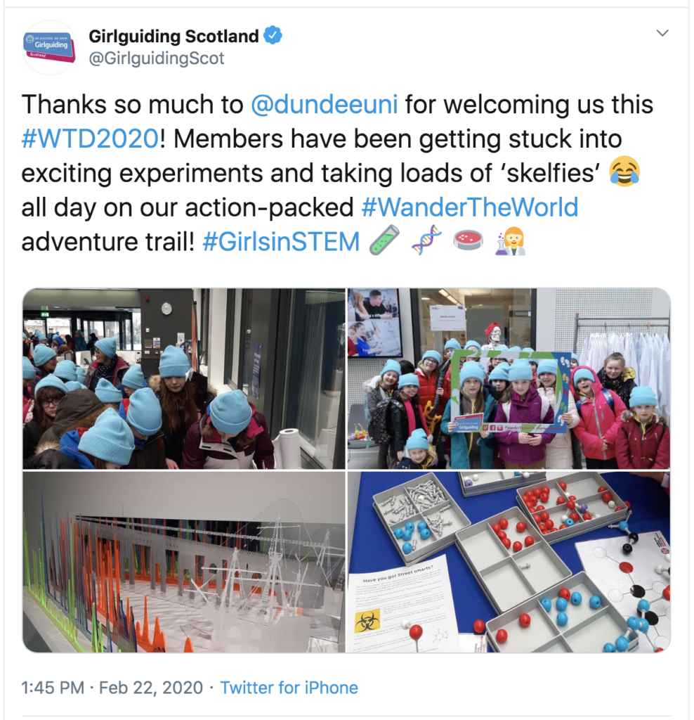 Girlguiding Scotland's Twitter Page