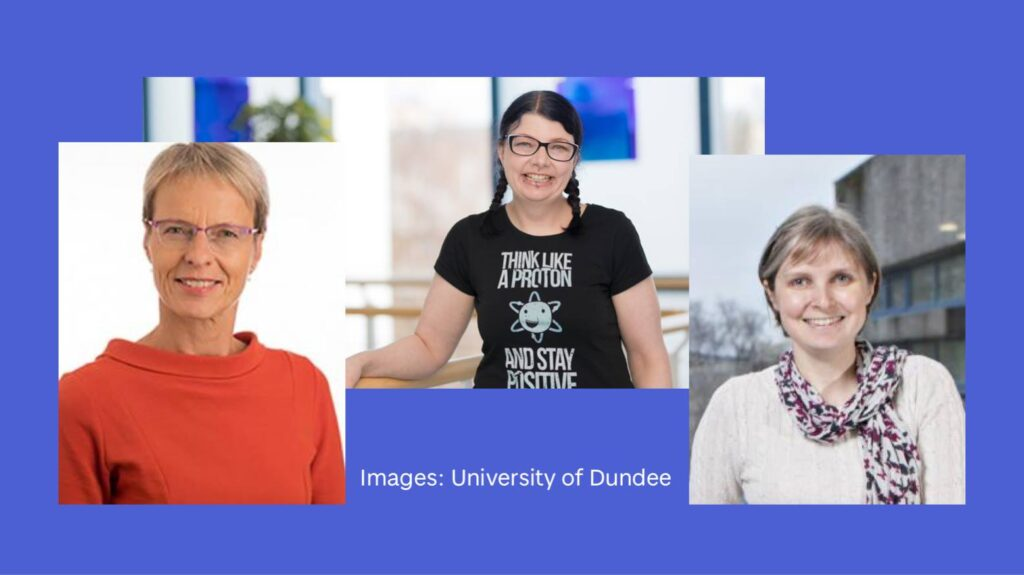 Scientists Inke Nathke, Lesley-Anne Pearson and Nicola Stanley-Wall