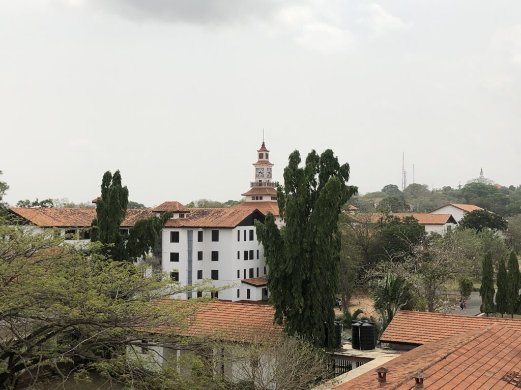 The view from the Chemistry Department in University of Ghana